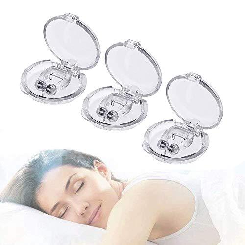 Schnarchstopper, 3 Stück Anti Schnarch Nasenklammer für Schnarchen, Magnet Nasen-Clip gegen Schnarchen chnarchschiene Nasenspreizer mit Aufbewahrungsbox