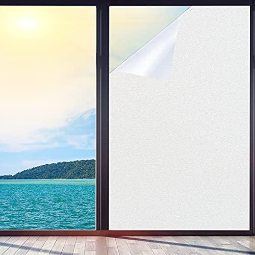 Film fenetre Anti Regard Protége Intimité, Electrostatique Stickers fenetre Film Dépoli Vitre,pour Bureau Maison Salle de Bain Chambre Cuisine,44.5*200cm