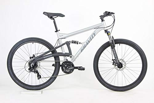 2021 Gravity FSX 27.5 LTD Dual Suspension 21 Speed Mountain Bike (Matt Ti Gray, 21 inch = Large/XLrg fits 6'2' to 6'5')