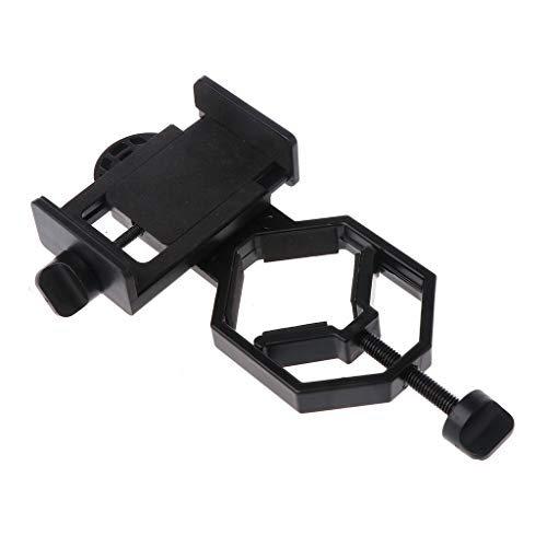 ForHe Universal Cell Phone Adapter Mount, Monocular Microscope Telescope Mobile Phone Clip Holder Bracket Attachment