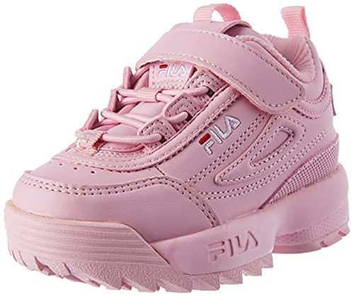 FILA Disruptor E infants Sneaker Unisex - Bimbi, Rosa (Pink Mist), 25 EU