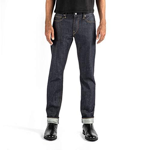 HIROSHI KATO Jeans Men's The Pen Slim Straight Raw 10.5 oz 4-Way Stretch Selvedge Denim Slim Fits Made in USA RAW 32