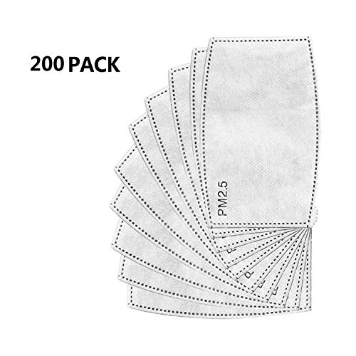 Affordable Promisy 5 Layers Air Filtration Filters Replacement Pad for Adults, Isolation Anti-Haze F...