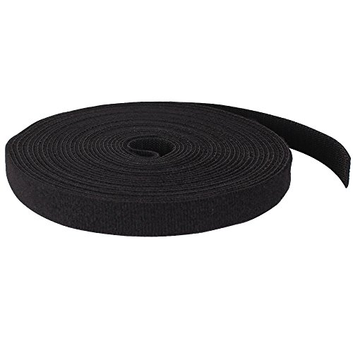 Double Sided Hook and Loop Tape, 25 Feet, Black