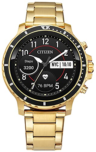 Citizen CZ Smart Touchscreen Smartwatch, Heartrate, GPS, Speaker, Bluetooth, Notifications, iPhone and Android Compatible, Powered by Google Wear OS
