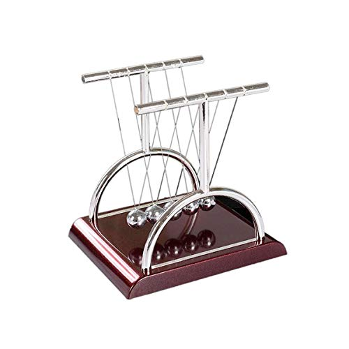 GTNINE Newton Balance Cradle Steel Ball Physics Teaching Science Fun Desk Decor Tshape Support Rod...