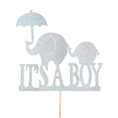 Dovewill 20x Glitter Silver It's A Boy/It's A Girl Baby Shower Toke Decor Gênero Reveal, Prata, Boy, 1