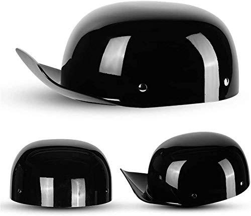 DLPAC Unisex Retro Motorcycle Half Helmet for Men and Women, DOT Certified Fashion Baseball Cap Modeling Adult Open-Face Helmet Bike Cruiser Chopper Moped Scooter ATV Helmet