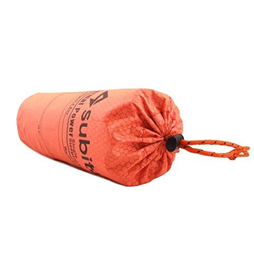 寝袋シュラフカバー封筒型アウトドアキャンプハイキングスリーピングバッグ自己発熱タイプオレンジ
