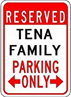 個人的な駐車場テナーファミリー駐車場-カスタマイズされた最後の名前は、錫金属通りの看板装飾を警告