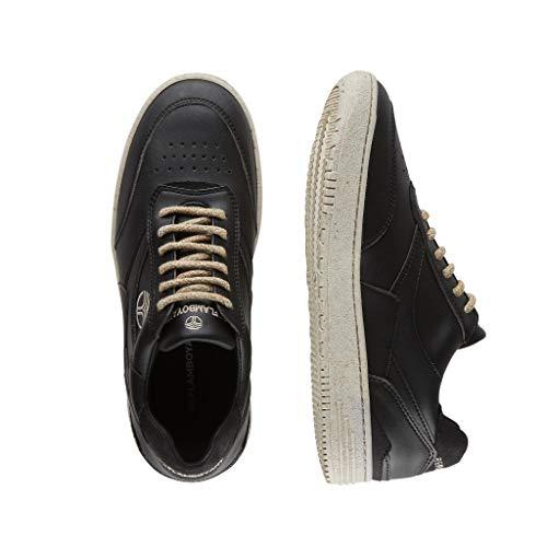 BEFLAMBOYANT Basquets Zapatos Zapatillas Vegan Handcrafted Durable Hombres Mujeres Unisex Clásicos Mixtos Retro (Negro, Numeric_39)