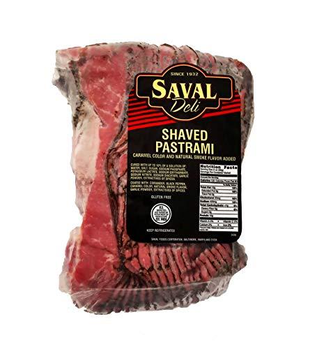 Saval Deli Sliced Pastrami Brisket - Fresh High Grade Gluten Free Meat - 2Lb