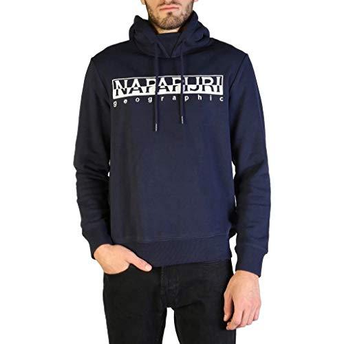 Napapijri Herren Baumwolle Fleece Berber Hoodie Marine XL