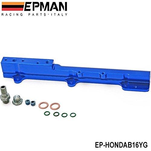 EPMAN Fuel Injector Rail Fit For Honda Civic Si B16A B16A1 B16A2 B16A3 (Blue)