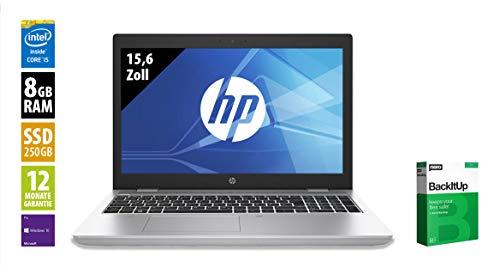 HP ProBook 650 G5-15,6 Zoll - Core i5-8265U @ 1,6 GHz - 8GB RAM - 250GB SSD - FHD (1920x1080) - Webcam - Win10Pro (Zertifiziert und Generalüberholt)
