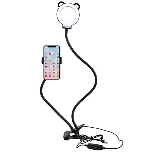 Brazo perezoso Flexible Soporte de montaje en el soporte flexible de cuello de cisne de la abrazadera plegable liderazsjustable Compacto con iluminación para iPhone Series / Samsung Celulares / Google