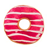 Voberry- Pillow, Doughnut Shaped Ring Plush Soft Novelty Style Cushion Pillow Outdoor Pillow (Multicolor G)