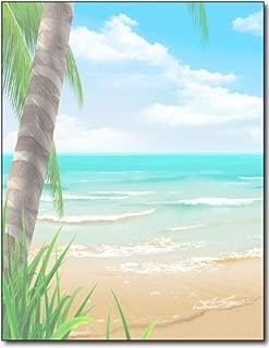 Island Paradise Stationery Paper - 100 Sheets