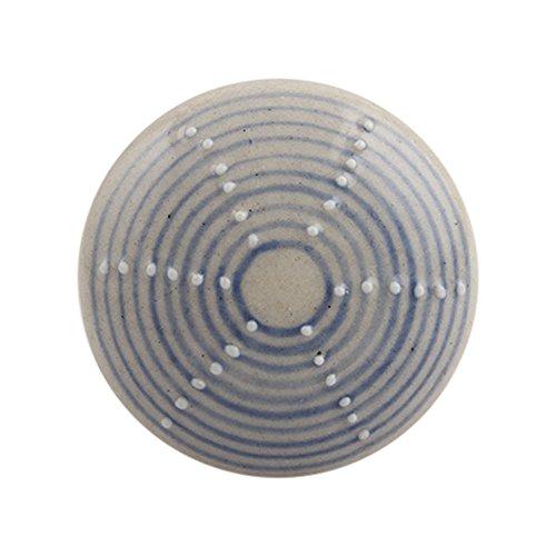 4 piezas de cerámica artesanal Indianshelf azul pizarra plana stripe Pomos de Cajón Armario puertas armario APARADOR Aparador tira de nuevo en línea