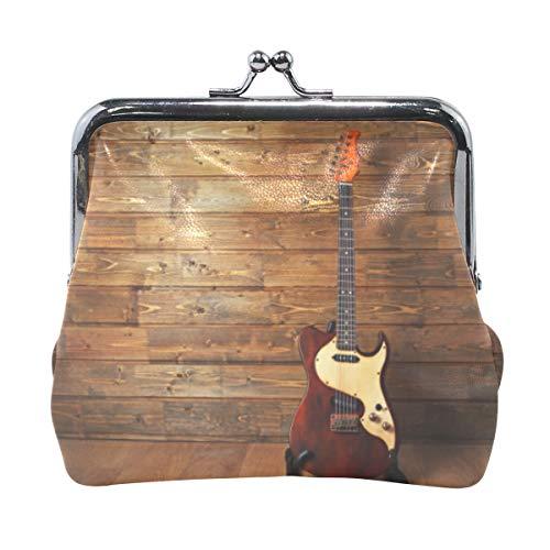 Monedero para Mujer, diseño de Guitarra eléctrica en Bolsa de Madera, Estilo...