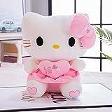 WYSTLDR Pink KT Cat Plush Toy, Hellokitty Doll Kitty Ragdoll Almohada Grande, Regalo del día de la niña, Regalo de Amante Falda Abrazo kt45CM