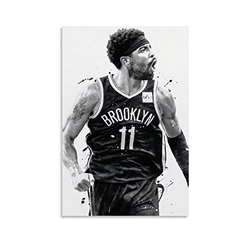 International Basketball Superstar Kyrie Irving Sports Poster Canvas Art Poster and Wall Art Picture Print Modern Family Bedroom Decor Posters 12x18inch(30x45cm)