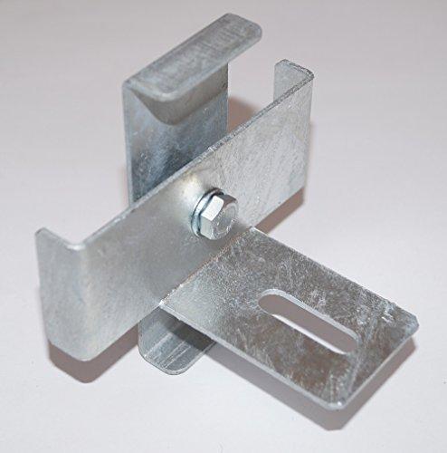 GABIONA Klammer mit Zaun-Halter für Steinkorb Gabione feuerverzinkt (10 x 10 cm)