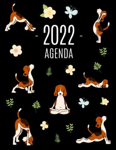 Perros de Yoga Agenda 2022: Planificador Mensual que Inspira Productividad   Con Calendario Mensual 2022