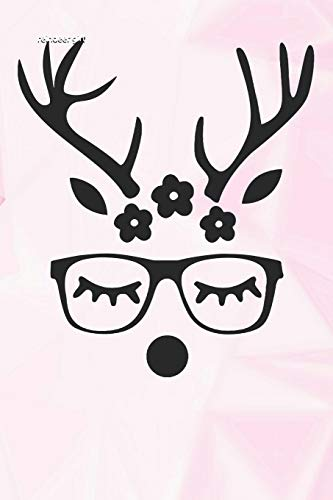 reindeer girl: hunters Lined Notebook and Journal composition book diary for mothers day