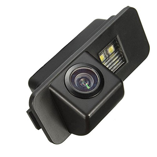 Misayaee Caméra de Recul Voiture en Couleur Kit Caméra vue arrière de voiture Imperméable IP67 avec large Vision Nocturne pour MONDEO/FIESTA/FOCUS HATCHBACK/S-Max/KUGA/ Everest / EcoSport (Model B = 1x Clip Connector Stye)