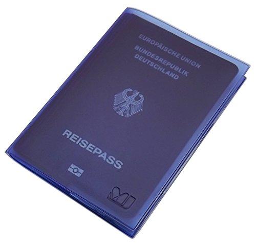 Reisepass / Internationaler Impfpass / Impfausweis / Impfbuch Schutzhülle 2 Fächer MJ-Design-Germany in verschiedenen trendigen Farben Made in EU (Lila)