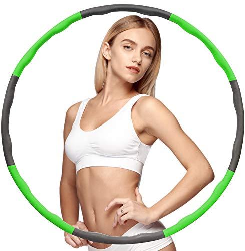 BENEFAST Hula Hoop Reifen Erwachsene,Gewichtsreduktion und Massage Schaumfüllung, Abnehmbarer Fitness Hula Hoop Ring mit 8 Wellenzonen