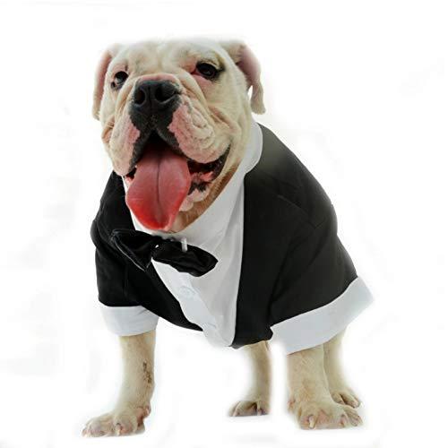 N/A Ropa para Perros Ropa para Perros Bulldog Ropa para Perros Traje Boda Traje Esmoquin American Bulldog Pit Bull Terrier Bully Pitbull Dog Pet Coat Disfraz