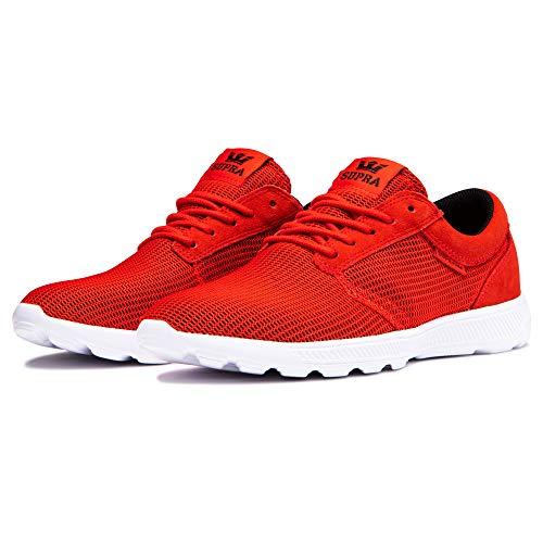 Supra Unisex-Erwachsene Hammer Run Sneaker, Rot (Risk RED/Black-White-M 693), 44 EU