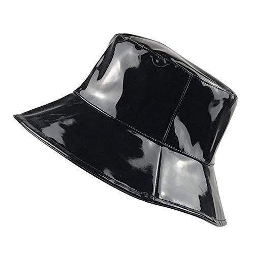Chapeau bob à bord large pour femme - Noir - Taille Unique