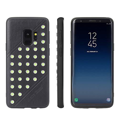 Populair siliconen telefoonhoesje voor Galaxy S9 Star Serie Retro Crazy Horse Texture PU lederen hoesje schokabsorptie beschermhoes stijlvolle laag profiel telefoonhoesje, Zwart
