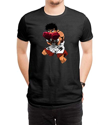 HUANGHUIH Homme Hajime No Ippo Cotton Print Manches Courtes/T-Shirt Top Tee X-Large