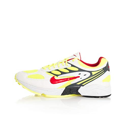 Nike Herren Air Ghost Racer Laufschuhe, Mehrfarbig (White/Atom Red-Neon Yellow-Dark Grey 100), 40 EU