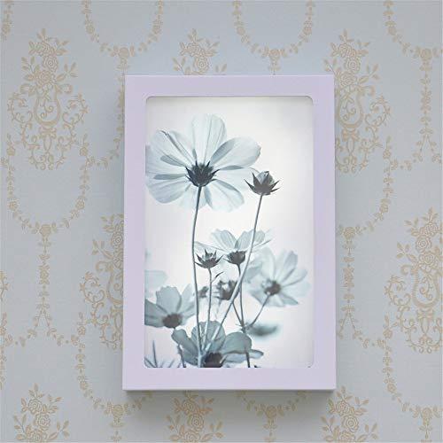 CWJ Luz de soporte de decoración, lámpara led decorativa de flores transparentes post-modernas, lámpara de escalera simple de pared de cama Led, 20 * 30 * 4.5Cm3 Lámpara de pared creativa cálida Ilum