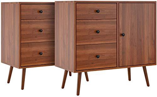 Cajón de madera de roble bajo profundamente cajón 3, y una 80x39x75.5cm tamaño de dos puertas del armario,2