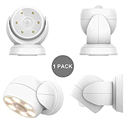 HONWELL Motion Sensor Light Outdoor Battery Operated Wireless...