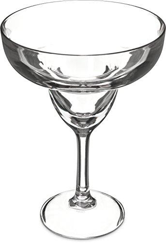 Carlisle 565207 Shatter-Resistant Plastic Margarita Glass, 16 oz, Clear