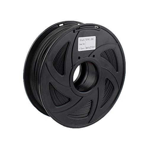 Exceptionnel Qualité Haut de Gamme en Fibre de Carbone for Filament 3D Imprimante Couleur 1.75mm 1KG Spool Noir for RagRap de Prusa dureté (Color : Carbon Fiber Black)
