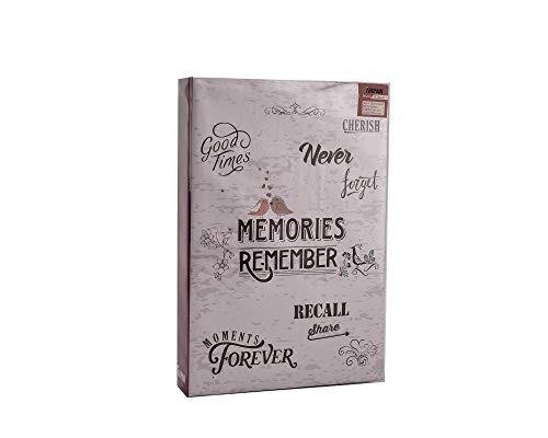 ARPAN Álbum 300 Fotos de 10 x 15 cm, con Espacio para Notas Junto a Cada fotografía y páginas deslizantes, Memorias, 22 x 4.5 x 33 cm