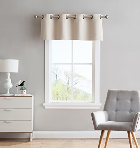 Nicole - 1 StraightValance Curtain Panel - Premium Grommet Blackout - 54 inch Wide x 18 Long - Solid Thermal Insulated Draperies - Ideal for Any Room and Bedroom (1 Valance 54x18, Ivory)