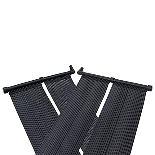 vidaXL 4X Solar Poolheizung Solarheizung Solarkollektor Solarmatte Pool Heizung Solarabsorber Schwimmbadheizung Solarpanel 80x310cm