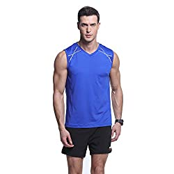 Men's Stretchy Sleeveless Workout T-Shirt