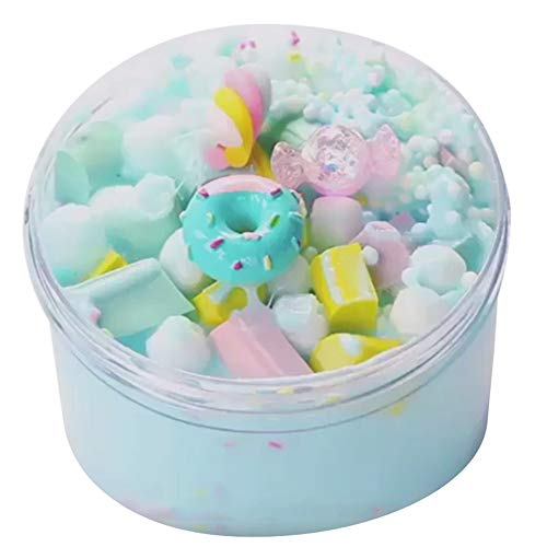 Yliquor Slime Putty 60ml Ice Cream Beautiful Color Mixing Cloud Scented Stress Kids Clay Toy