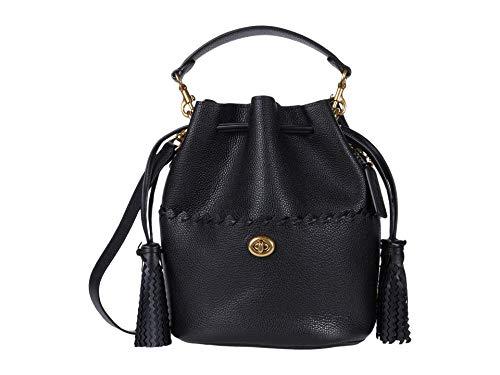 COACH Whipstitch Details Lora Bucket Bag B4/Black One Size