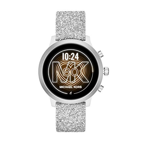 Michael Kors Access MKT5094 Smartwatch Michael Kors Dama, Correa Silicon Color Plata, Caja Color Plata, Multifuncion for Accesorios, Plata, Mujer Estándar